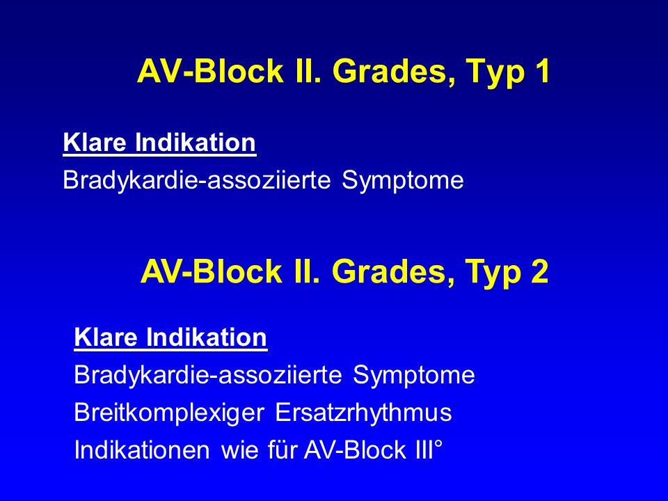 AV-Block II. Grades, Typ 1 AV-Block II. Grades, Typ 2