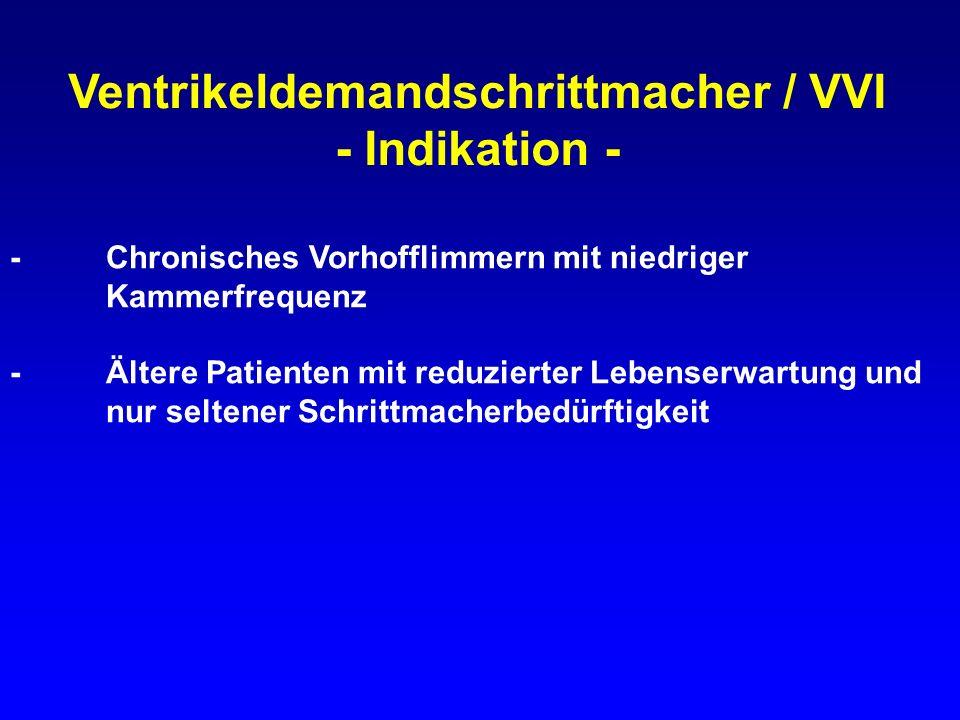 Ventrikeldemandschrittmacher / VVI