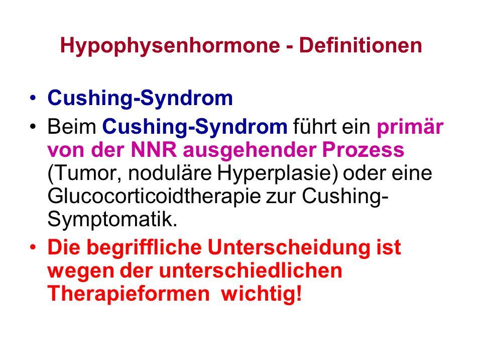 Hypophysenhormone - Definitionen