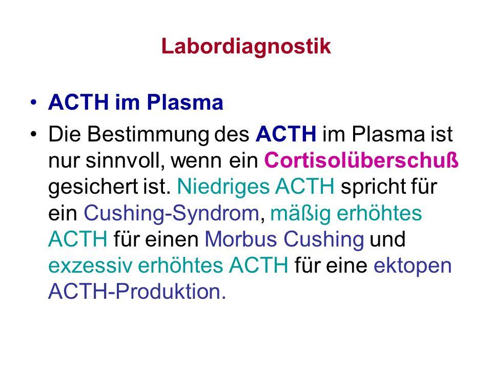 Labordiagnostik ACTH im Plasma.
