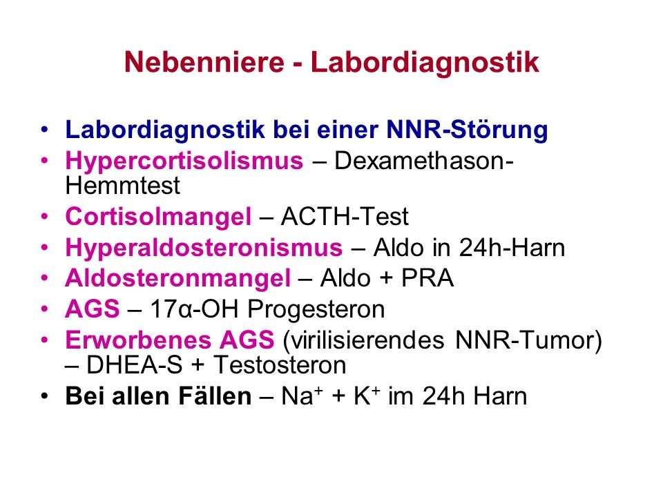 Nebenniere - Labordiagnostik