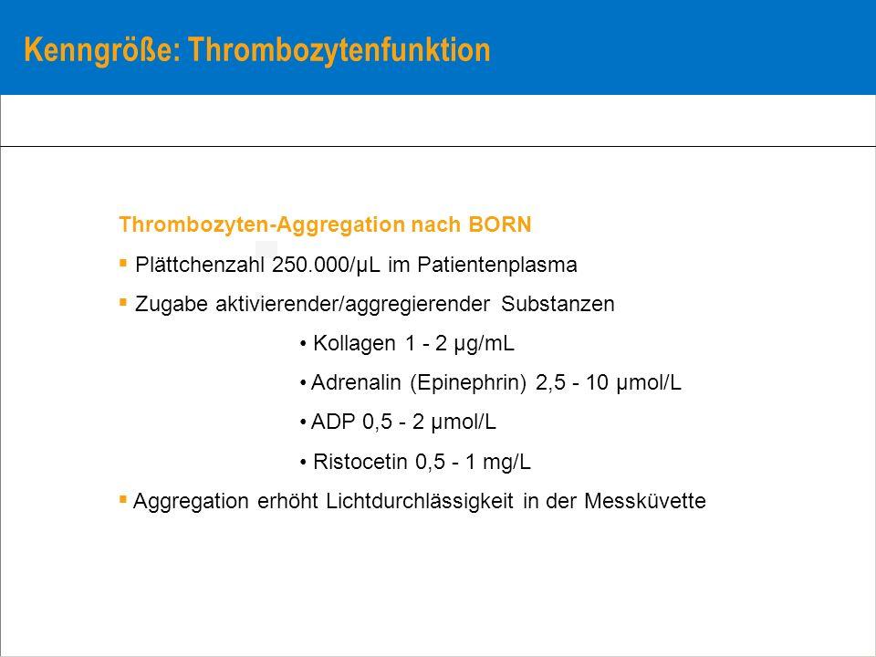 Kenngröße: Thrombozytenfunktion