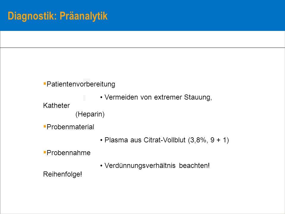 Diagnostik: Präanalytik