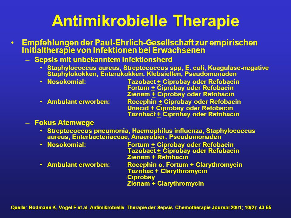 Antimikrobielle Therapie