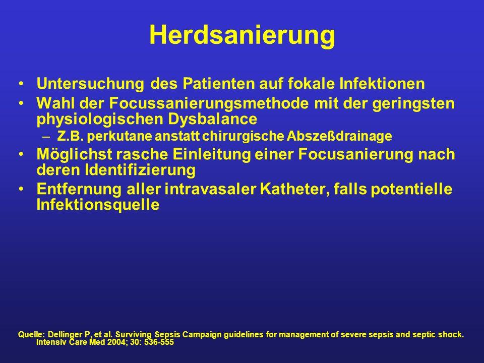 Herdsanierung Untersuchung des Patienten auf fokale Infektionen
