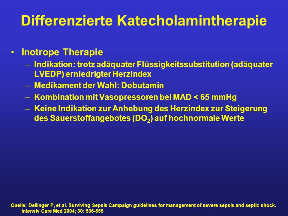Differenzierte Katecholamintherapie