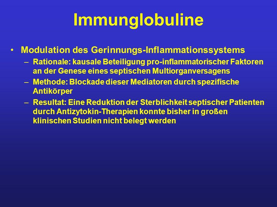Immunglobuline Modulation des Gerinnungs-Inflammationssystems