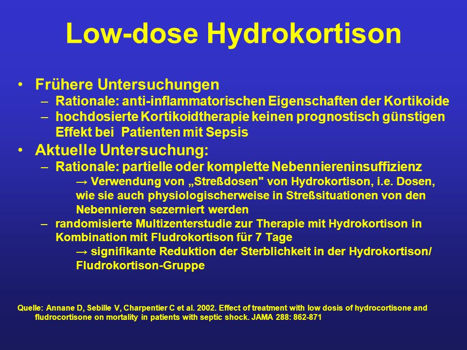 Low-dose Hydrokortison