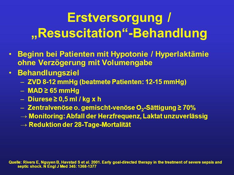 "Erstversorgung / ""Resuscitation -Behandlung"