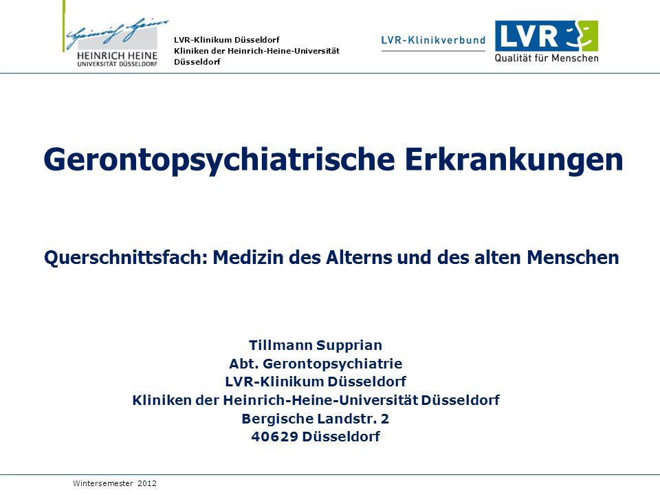 Gerontopsychiatrische Erkrankungen