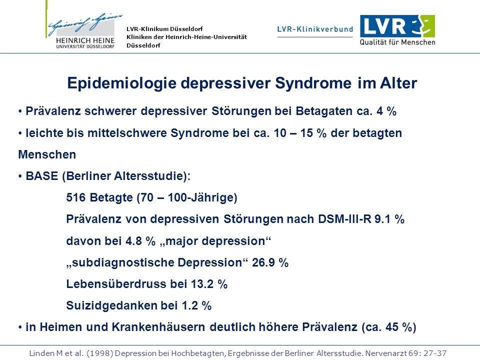 Epidemiologie depressiver Syndrome im Alter