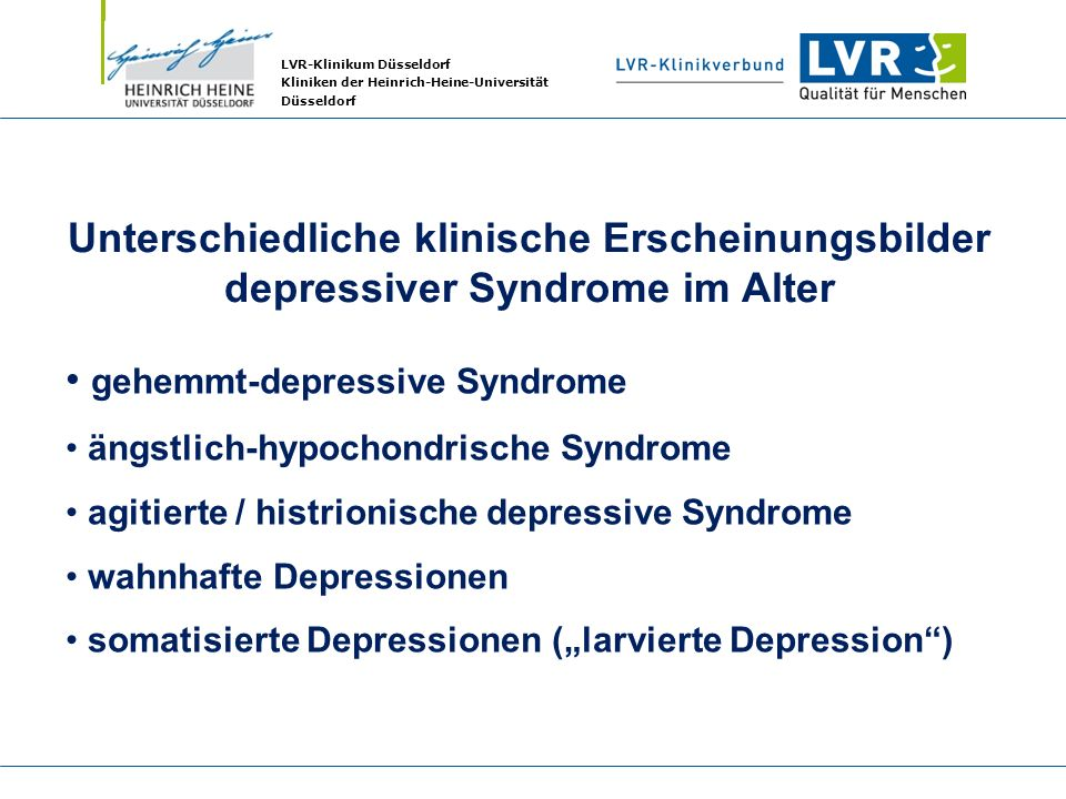 gehemmt-depressive Syndrome
