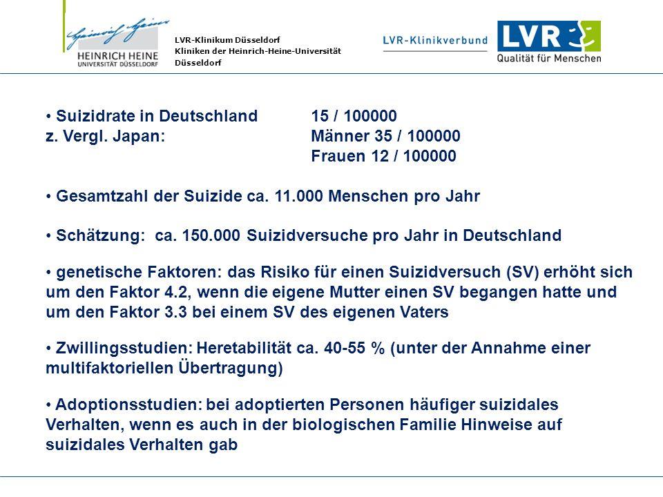 Suizidrate in Deutschland 15 / 100000