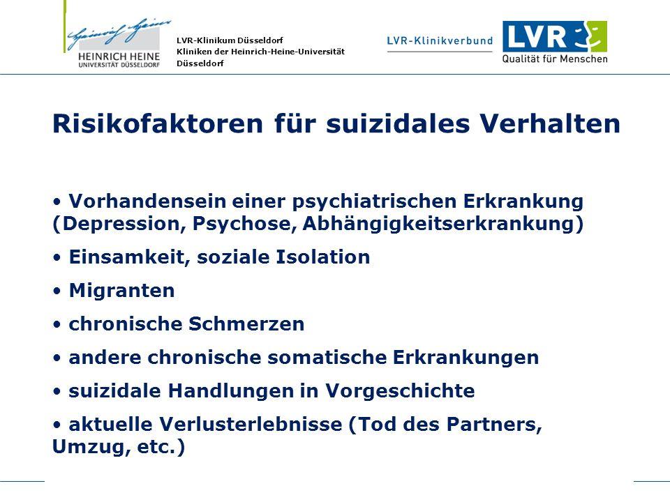 Risikofaktoren für suizidales Verhalten