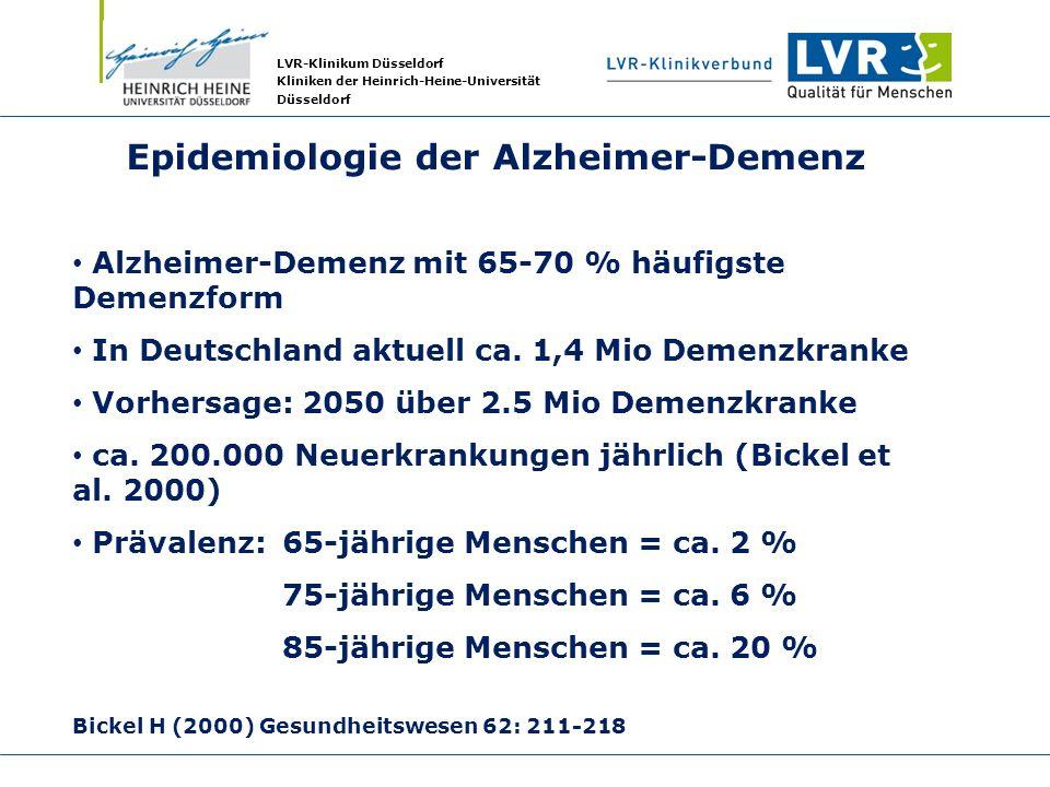 Epidemiologie der Alzheimer-Demenz