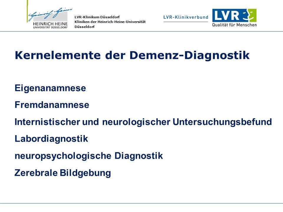 Kernelemente der Demenz-Diagnostik