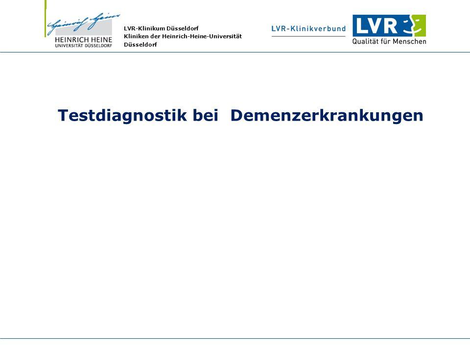 Testdiagnostik bei Demenzerkrankungen