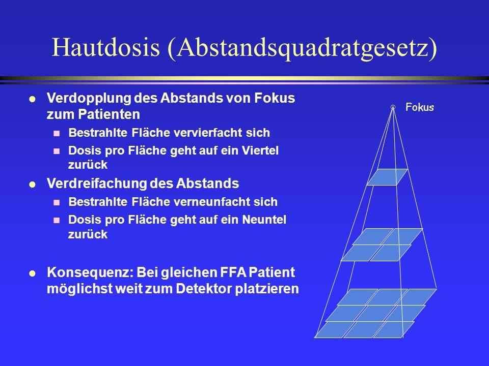 Hautdosis (Abstandsquadratgesetz)
