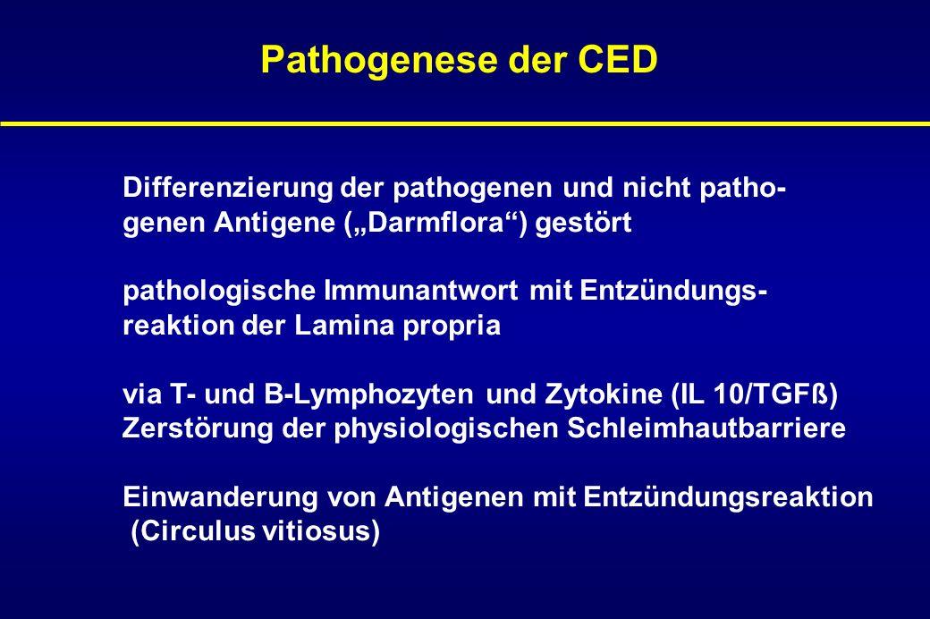 Pathogenese der CED Differenzierung der pathogenen und nicht patho-
