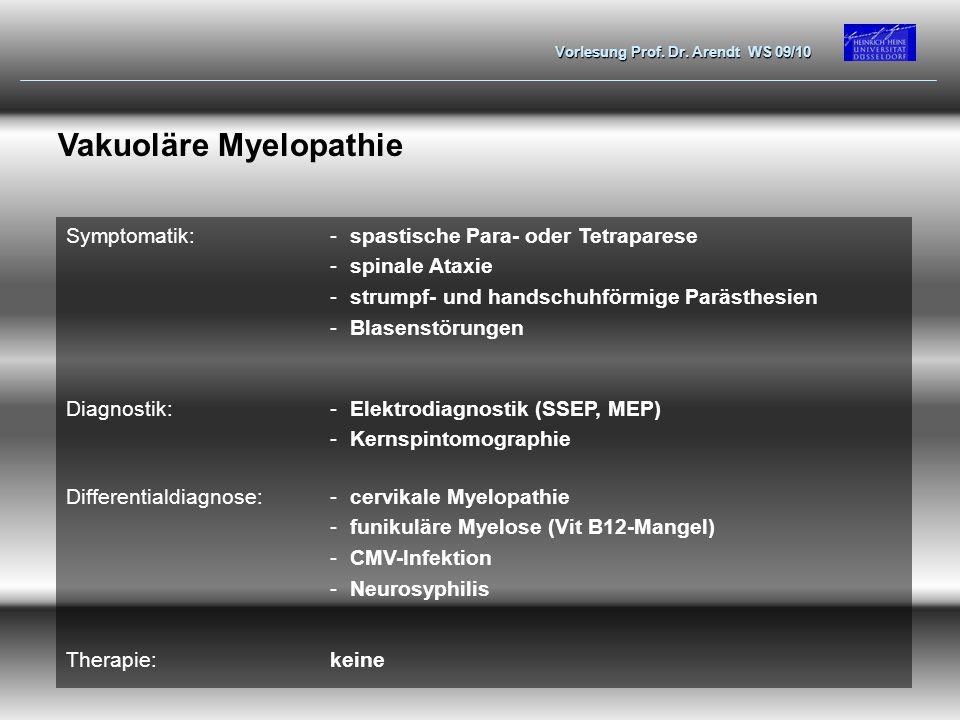 Vakuoläre Myelopathie