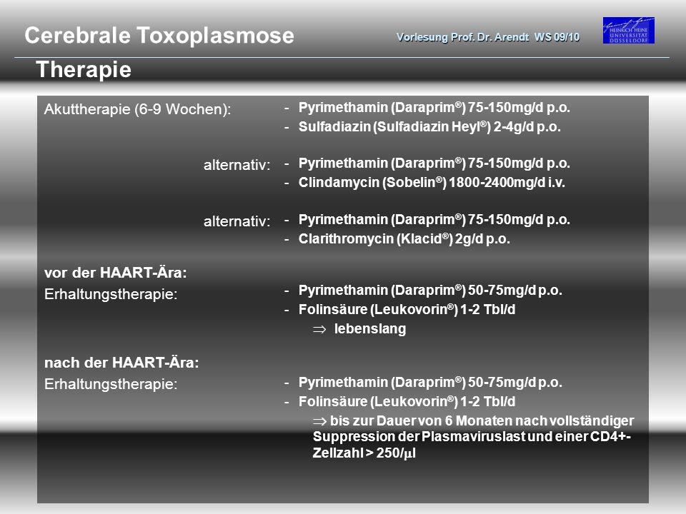 Cerebrale Toxoplasmose
