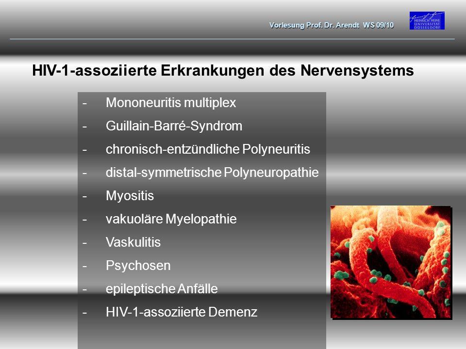 HIV-1-assoziierte Erkrankungen des Nervensystems
