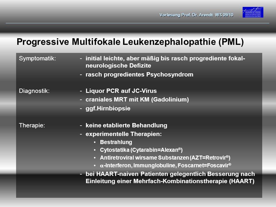 Progressive Multifokale Leukenzephalopathie (PML)