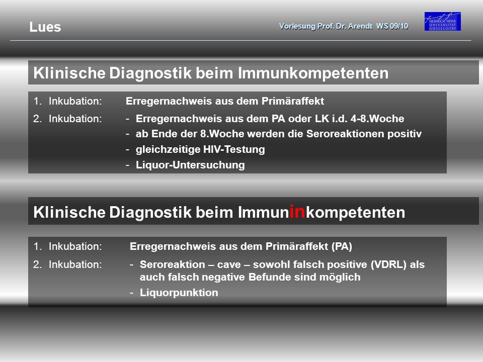 Klinische Diagnostik beim Immunkompetenten