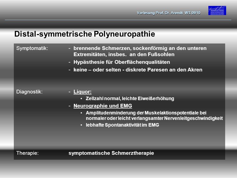 Distal-symmetrische Polyneuropathie