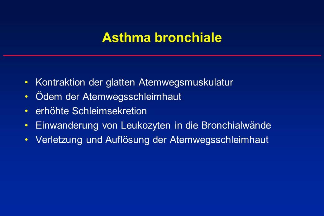 Asthma bronchiale Kontraktion der glatten Atemwegsmuskulatur