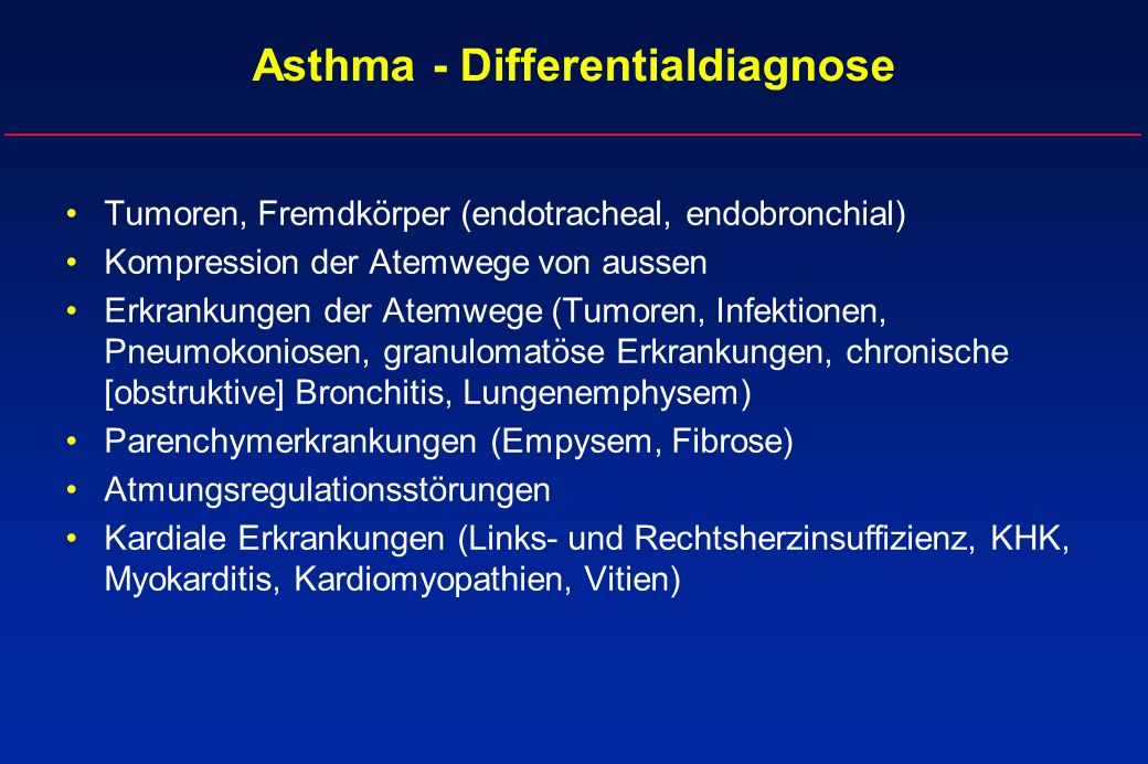 Asthma - Differentialdiagnose