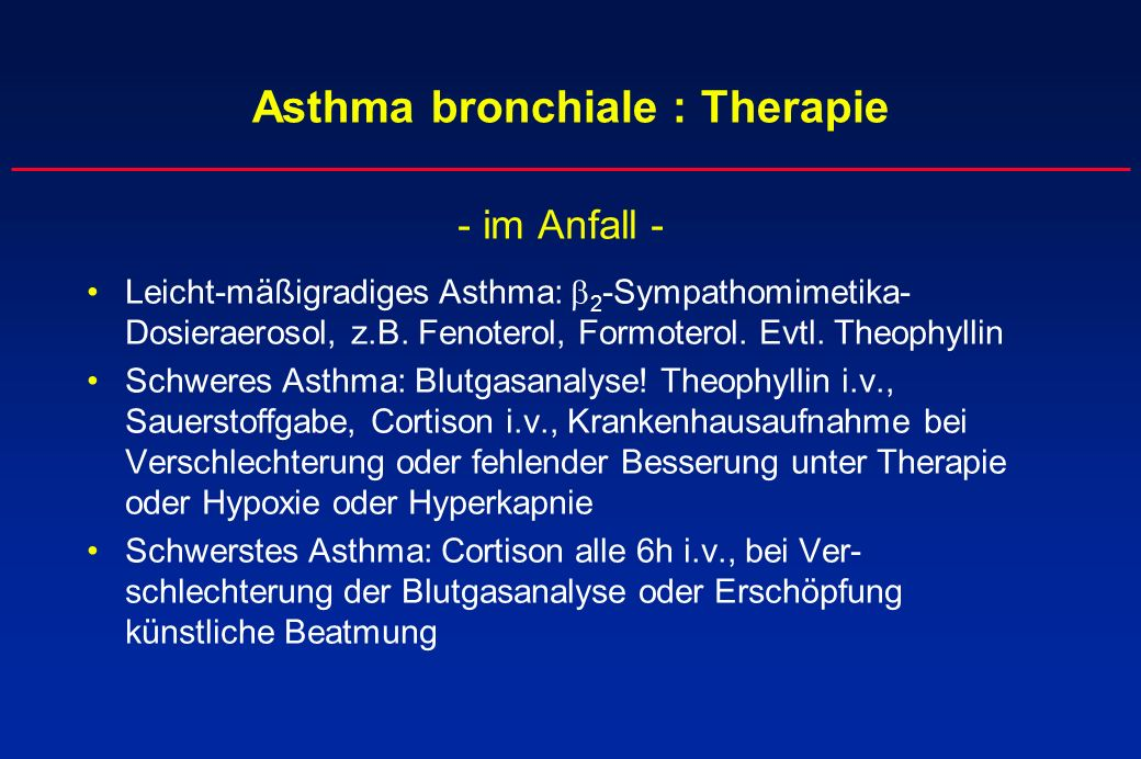 Asthma bronchiale : Therapie