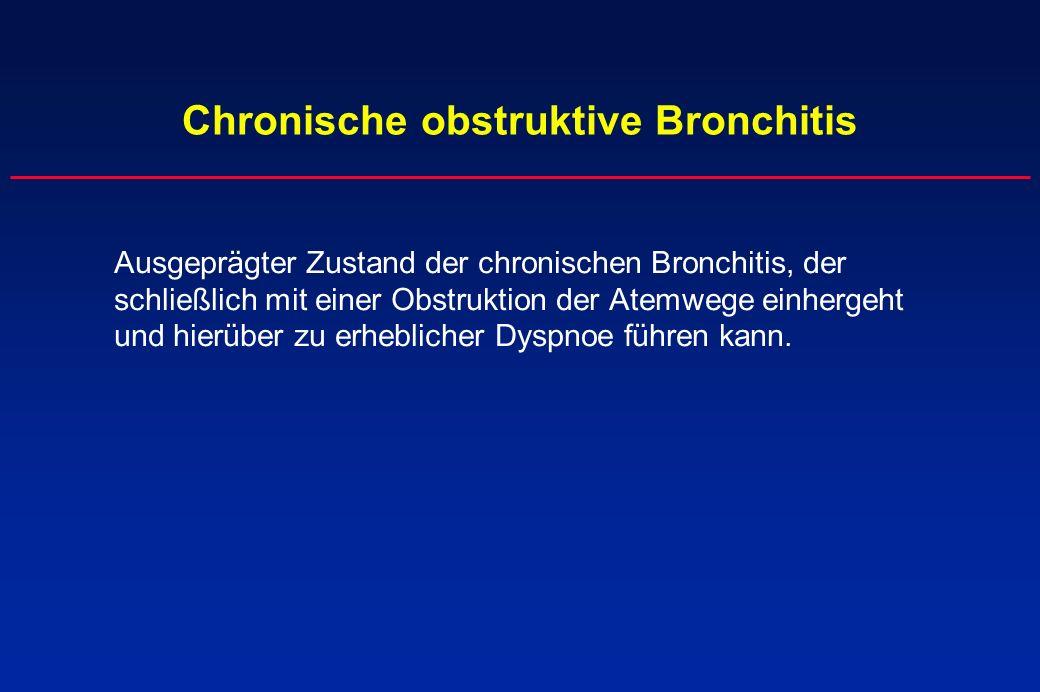 Chronische obstruktive Bronchitis