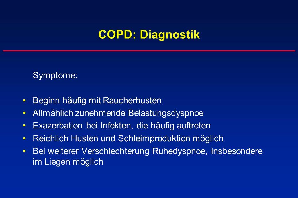 COPD: Diagnostik Beginn häufig mit Raucherhusten
