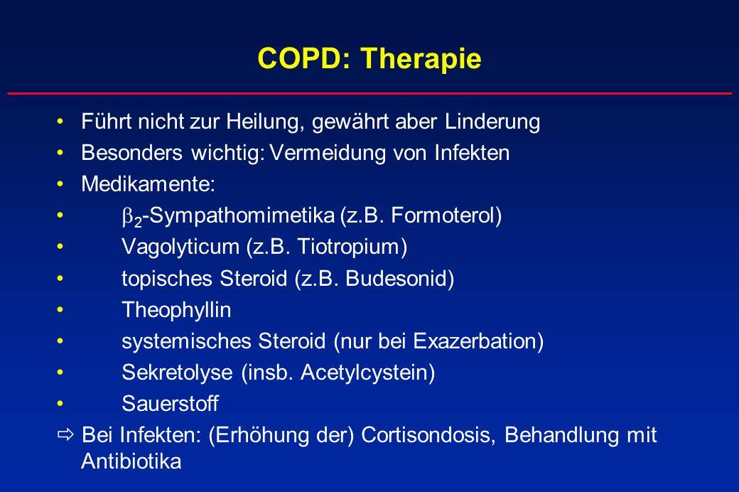 COPD: Therapie Führt nicht zur Heilung, gewährt aber Linderung