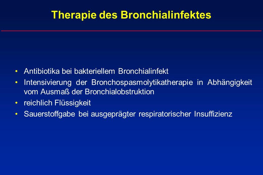 Therapie des Bronchialinfektes