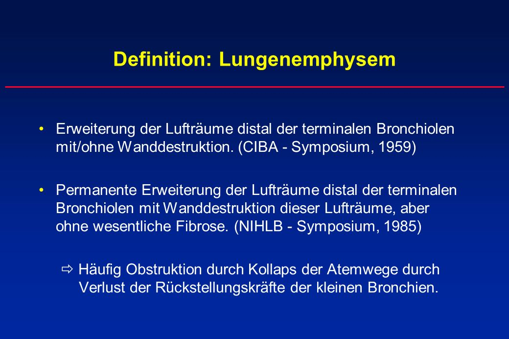Definition: Lungenemphysem