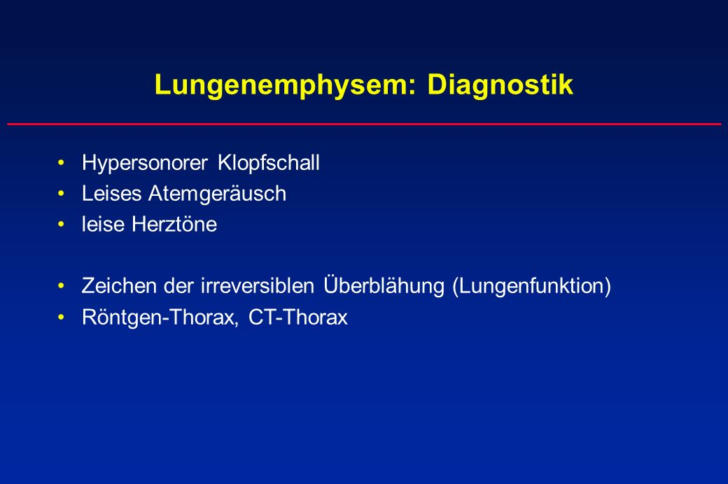 Lungenemphysem: Diagnostik