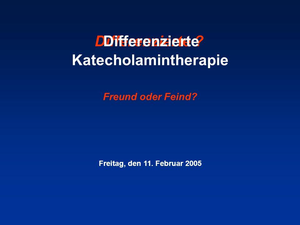 Katecholamintherapie