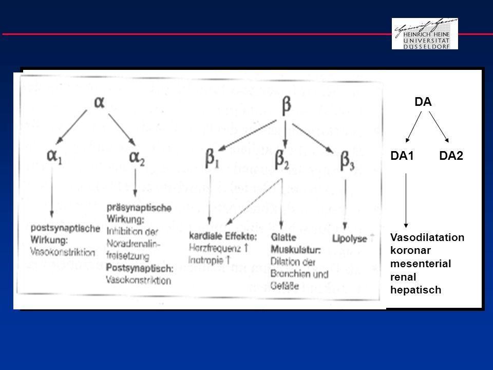 DA DA1 DA2 Vasodilatation koronar mesenterial renal hepatisch