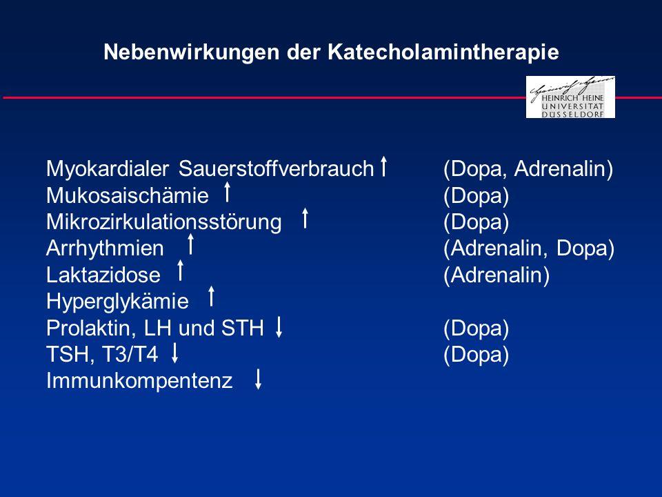 Nebenwirkungen der Katecholamintherapie