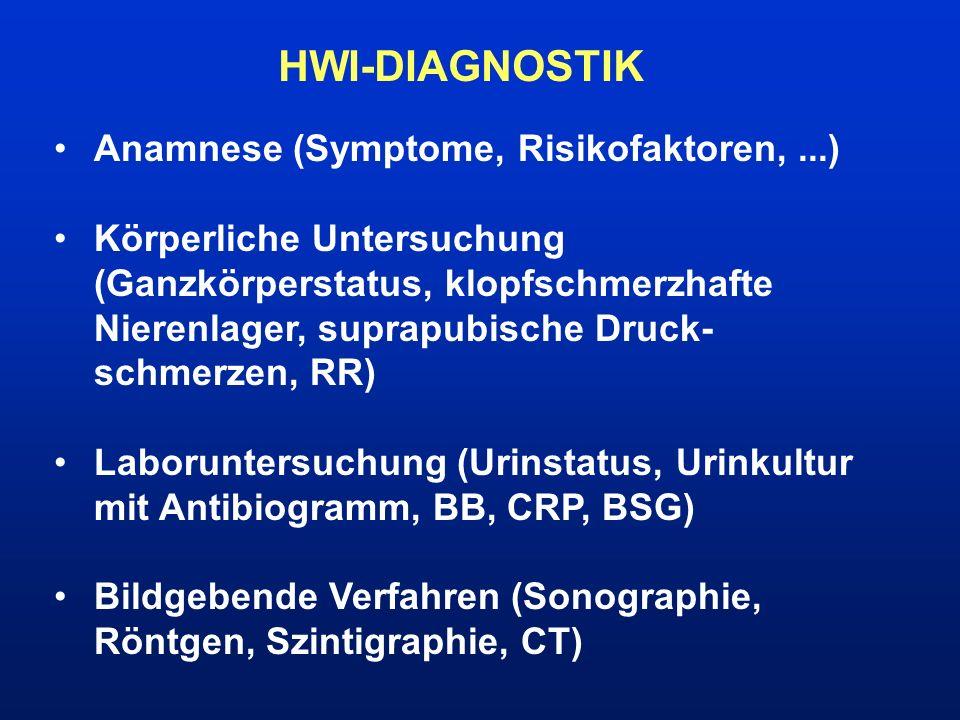 HWI-DIAGNOSTIK Anamnese (Symptome, Risikofaktoren, ...)