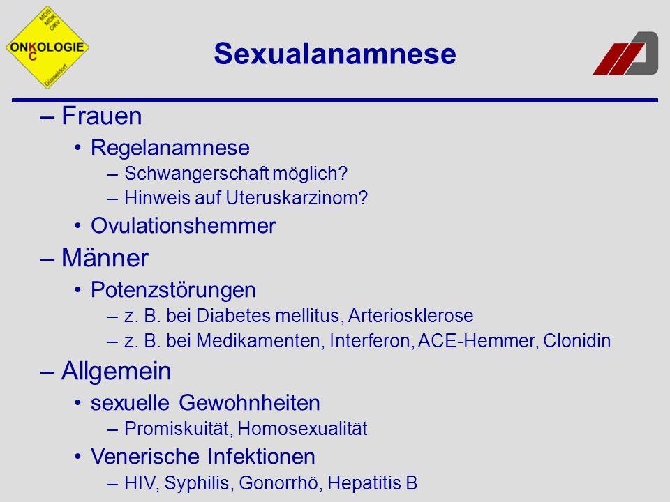 Sexualanamnese Frauen Männer Allgemein Regelanamnese Ovulationshemmer