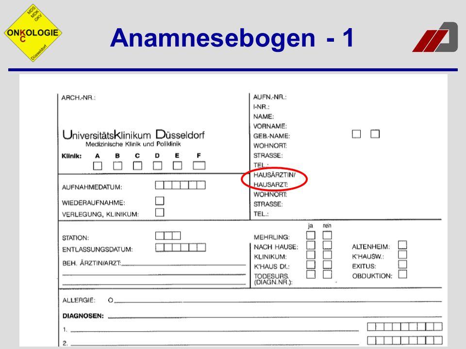 Anamnesebogen - 1
