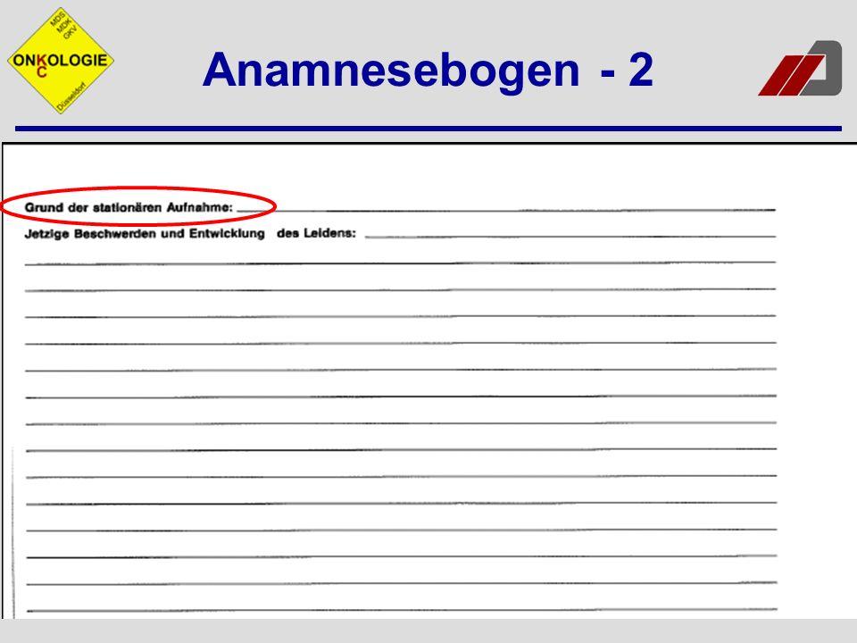 Anamnesebogen - 2