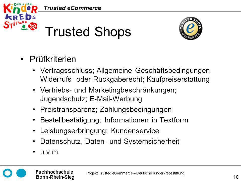 Trusted Shops Prüfkriterien
