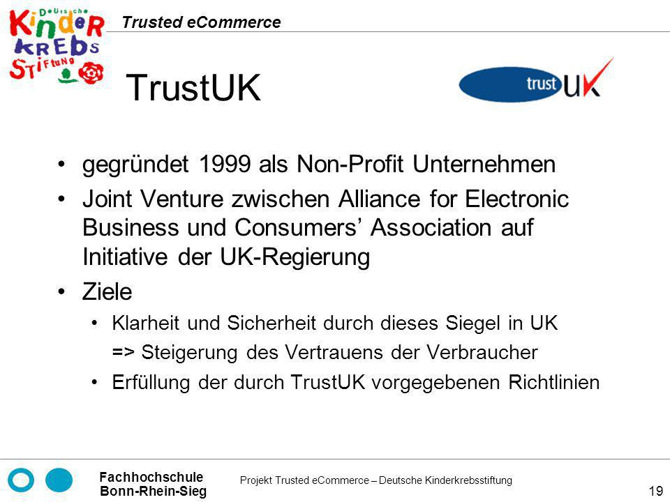 TrustUK gegründet 1999 als Non-Profit Unternehmen