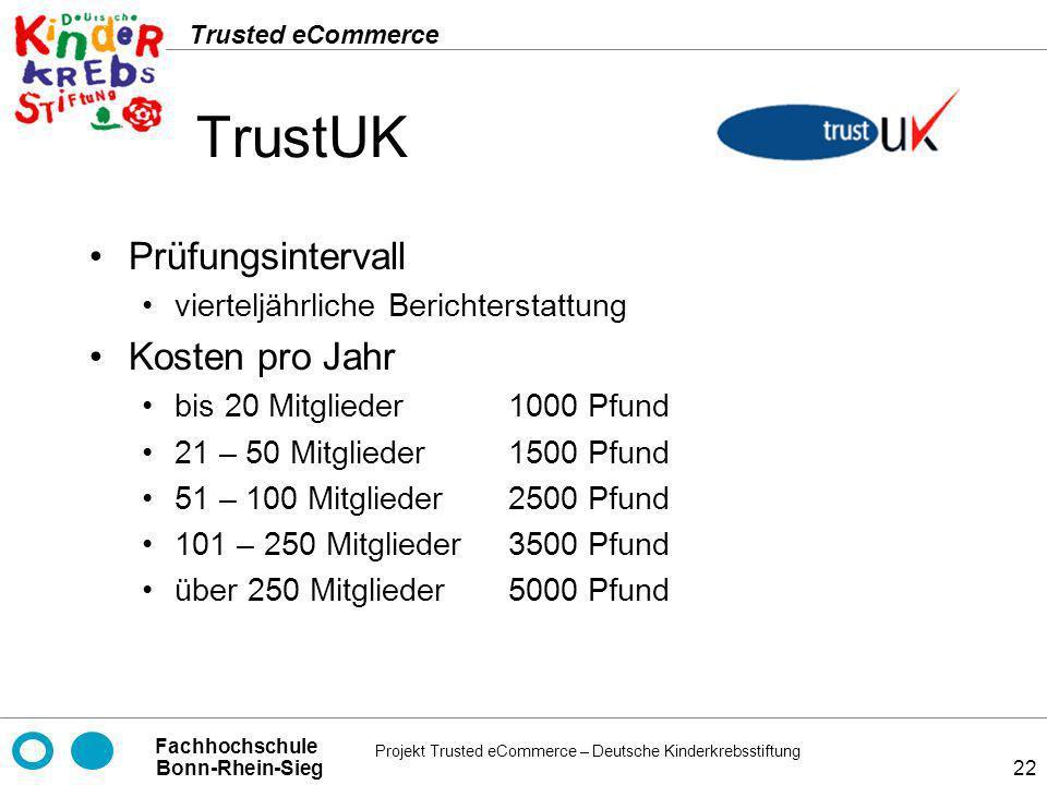 TrustUK Prüfungsintervall Kosten pro Jahr