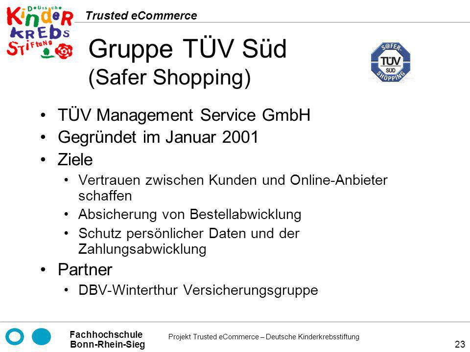 Gruppe TÜV Süd (Safer Shopping)