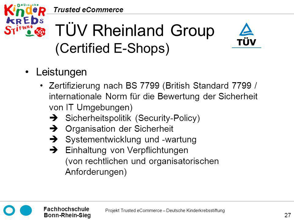 TÜV Rheinland Group (Certified E-Shops)